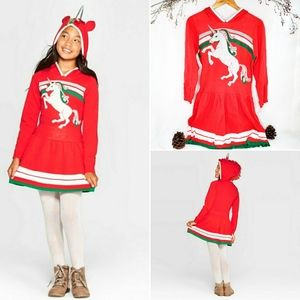 🏷 Well Worn • Holiday Unicorn sweater dress